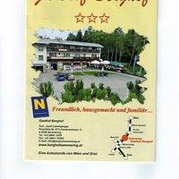 Рекламный проспект Гастхоф Бергхоф в Земмеринге