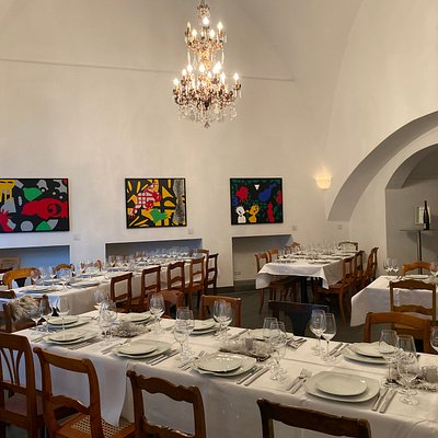 Event room with contemporary art.