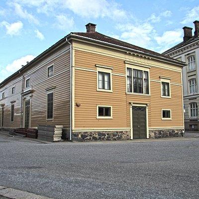 Fredrikshalds Teater i Halden sett fra utsiden
