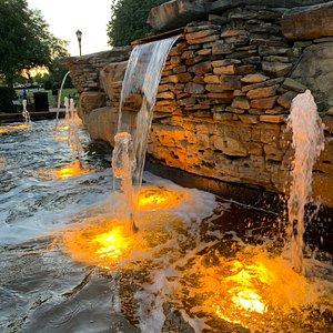 Waterfall by the swings