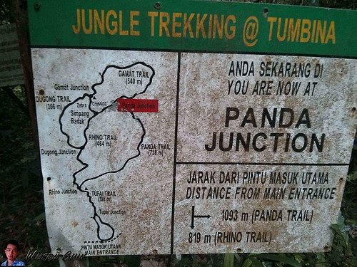 """Panda Junction Sign : Photo from the """"I am the Borneo Explorer"""" blog. Tried looking for it but couldn't find it."""