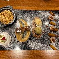 Dessert at New Zealand Unlimited restaurant.