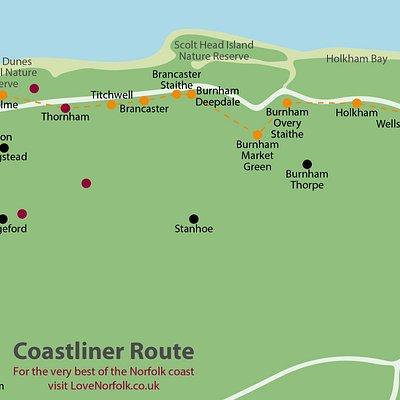 CoastLiner CoastHopper Norfolk Bus route lovenorfolk.co.uk