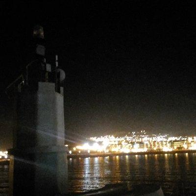 vista dal faro di notte