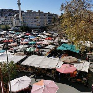 Colorful Cuma Market