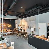 The café & showroom