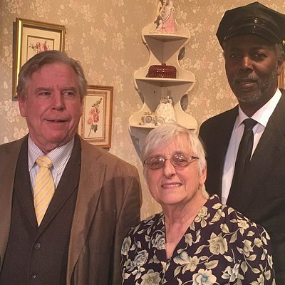 Cast of Driving Miss Daisy.  L-R  James Ring, Karen McPherson and Ron Williams.