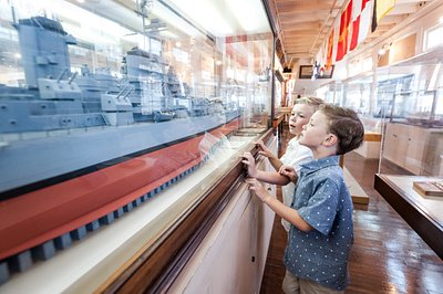 Learn about San Diego's deep roots with the US Navy as your family explores an historic collection of naval maritime ship models and artifacts.