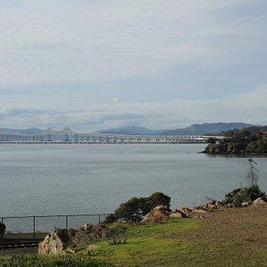 View of bridge from Miller-Knox Shoreline Park in Pt. Richmond