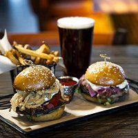 The I Can't Decide: two jumbo 1/4 sliders of your choice. Add a side of fries and a local draft beer to make it a meal!