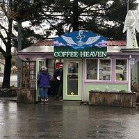 Coffee Heaven on a rainy January morning around 9 am.