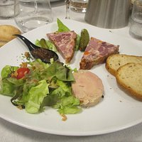 Terrine de gibier et Foie gras