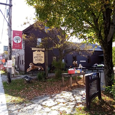 The outside of the Country Store makes you want to pull in, park and explore