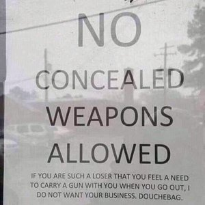 Sorry, I never made past this sign. I don't support those who don't support my freedom.