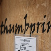 thumbprint cellars oak barrel