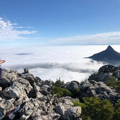 Hiking up Table Mountain National Park