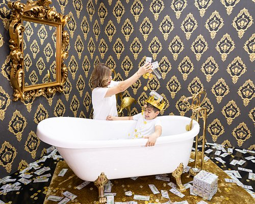 Shower in Gold and Money in our Rich Room