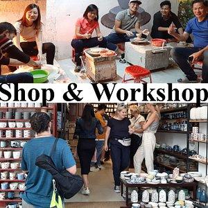 Authentic bat trang ceramics - shop and worshop