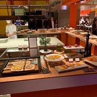Some of the food at the buffet