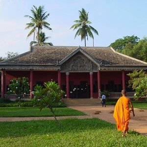 Center for Khmer Studies Library in Siem Reap, Cambodia. CKS is free to visit and offers free WiFi.