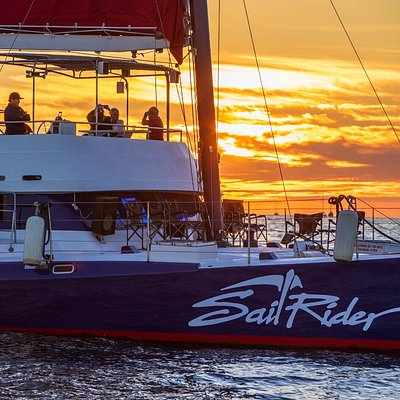 Sunsets aboard the Sail Rider in Cabo San Lucas