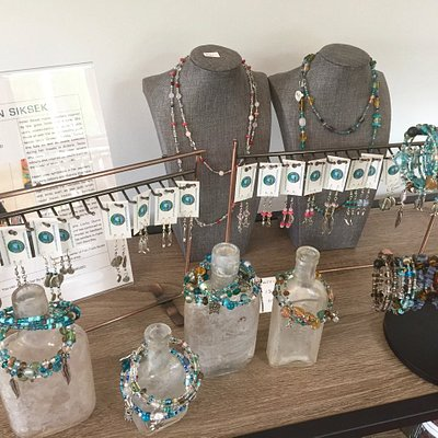 One-of-a-kind jewellery.  Fish Point Studio, Manitoulin Island.