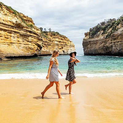 Walking on the beach at Loch Ard Gorge, Port Campbell National Park