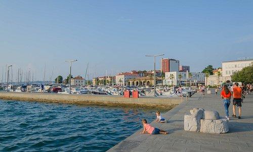 Nadmorska promenada w Koprze