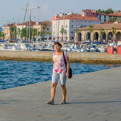 Na nadmorskiej promenadzie w Koprze