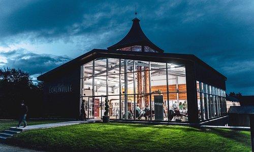 The Echlinville Distillery Still House at night