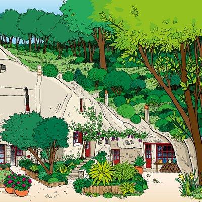 Une impression d'artiste de notre site. Merci à Catherine PIVET (www.plan-illustre.com) pour ce superbe coup de crayon.