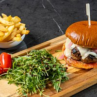 BeefBurger with pickled onion, Arseniko Naxos Cheese & Homemade tomato marmalade...