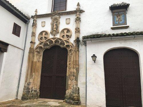 Inner courtyard looking towards church entrance