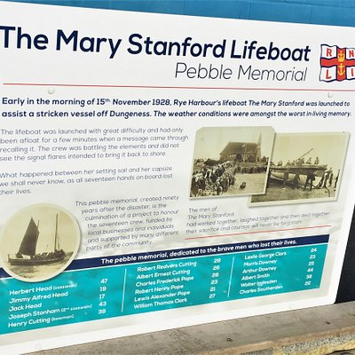 1.  The Mary Stanford Lifeboat Pebble Memorial, Rye Harbour, East Sussex