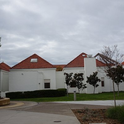 Some of the community center buildings in the park complex