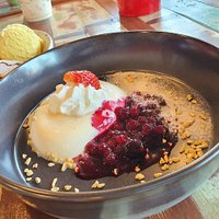Italian Dessert (Panna Coda with berry strew)
