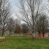 Parco alberato, attrezzato con piccola area gioco per bimbi