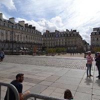 La Place du Parlement-de-Bretagne vue du Palais du Parlement