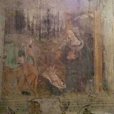 """Interno della Sagrestia affresco """"Natività"""""""