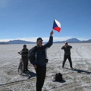 Group from czech republic enjoying Laguna de Salinas - Arequipa, Peru By PERU ADVENTURE TOURS.