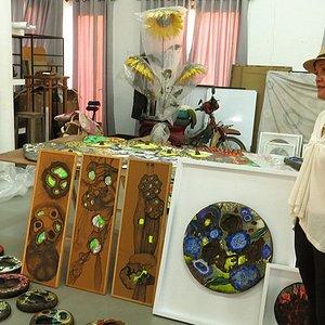 Yim Maline talking about her art.