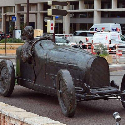 Monaco. Statue of William Grover-Williams