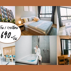 Cute rooms, Japanese-style furniture, electrical appliances. Complete facilities The location is near the city. Convenient to travel. Reservations can be made at 093 575 0778.