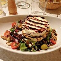 salade chêvre noix et miel