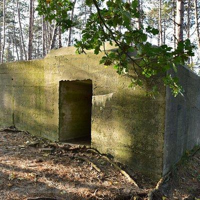 De ingang van de tobruk.