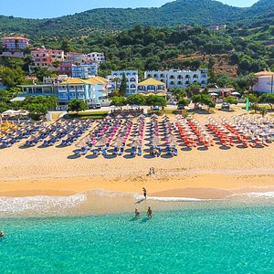 hotel and beach panorama