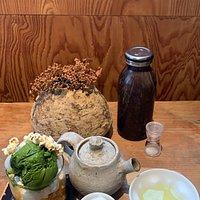 High quality green tea with matcha icecream snacks