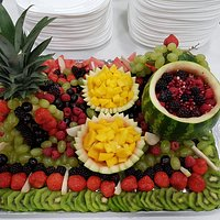 Taste of India Fruit Display at Suffolk New College Catering Event