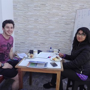 Some of our students from this year! We had some staying anywhere from 1 week to 5 months! Coming from every walk of life and Spanish Level! Our school is open to anyone who wants to improve their knowledge of Spanish and we will help you Learn Like a Local! Once you study with us you will always have a home in Arequipa, Peru to come back to!