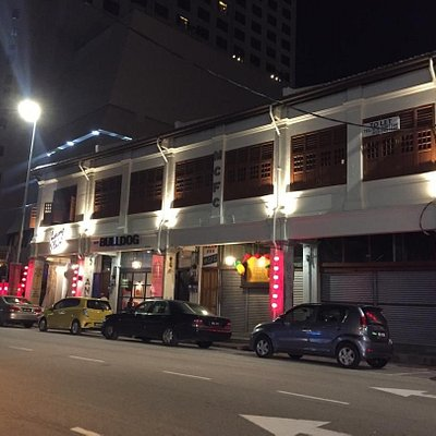 Night view of the building